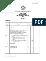 Mark Scheme Biology Paper 2 Ujian Pra 2007