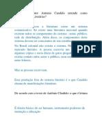 O que o autor Antonio Candido entende como Manifestações Literárias.docx