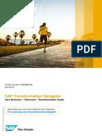 SAP Transformation Navigator Sample Transformation Guide