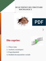 Metode Si Tehnici de Cercetare Sociologica - Prezentare Pp