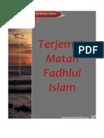 e Book Terjemah Fadhlul Islam