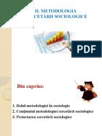 Metodologia Cercetarii in Sociologie - Prezentare Ppt