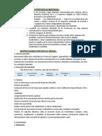 Instrucciones Portafolio Individual y Grupal