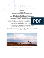 Resumen de Investigación y Entrevista en Un Nuevo Metodo Para Combatir La Sequia