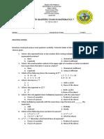 4th Periodical Exam