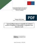 Aspects Juridiques, Fiscaux Et Comptables Des Sociétés de Services Et d'Ingénierie en Informatique