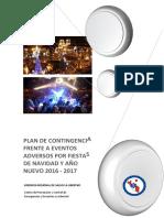 Plan de Contingencia Fiestas Fin de Año La Libertad 2016-2017
