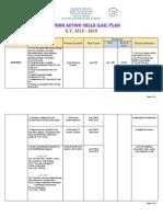 LAC PLAN 2018-2019