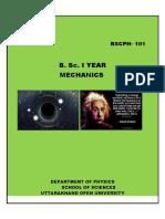Bsc Mechanics First Year s