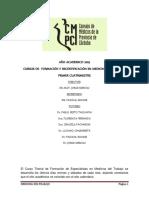 Medicina Del Trabajo 2019- Temario