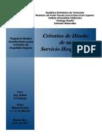 Criterios de Diseño de Un Servicio Hospitalario