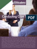 723 Conducting Osh Training