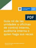 Guía Rol Oficinas Control Interno, Auditoría Interna - Diciembre de 2018