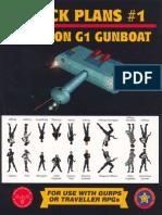 GURPS - 4th Edition - Deck Plans #1 - Klingon G1 Gunboat