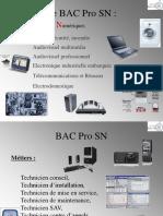 Présentation  BacPro SN