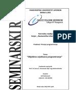 Principi programiranja - Seminarski rad - Arif Nuhanović