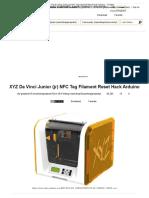 XYZ Da Vinci Junior (Jr) NFC Tag Filament Reset Hack Arduino _ 17 Steps