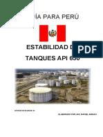 Estabilidad de Tanques API 650 PERÚ