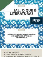 SLIDE 1 - Afinal, o Que é Literatura