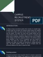 campus recruitment system