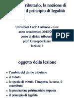 Diritto italiano - nozione di tributo