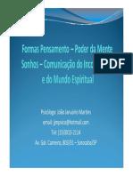 FormasPensamento Kardec,Jung,Andréluiz,Hammed
