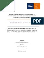 """DISEÑO DE INSTRUMENTOS DE EVALUACIÓN PARA LA """"UNIDAD DIDÁCTICA 1"""