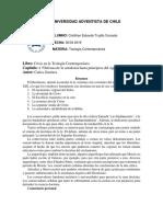 1er Informe de Lectura - Teología Contemporanea