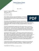 Letter to Secretary Bernhardt re