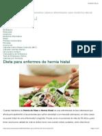 Dieta Para Enfermos de Hernia Hiatal - Buena Salud