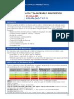 Classificação de edifícios por tipo ANPC_SCIE_UT-IV_Escolares