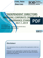 1. Independent Directors improving corporate credibility and Governance standards.pptx