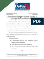 DeVos releases unprecedented amount of personal financial information