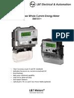 Single Phase Whole Current Energy Meter Em101plus