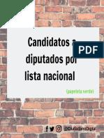Candidatos a Diputados Por Lista Nacional (2)