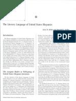 The Literary Language of the United States Hispanics