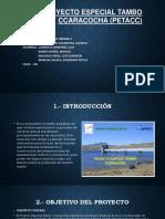 Proyecto Especial Tambo Ccaracocha (Petacc) Power Point