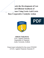 Study  Towards  the  Development of  Low Cost  and Efficient  Synthesis of   -nitrostyrenes Using Lewis  Acid-Lewis Base  Cooperative Catalytic  Action