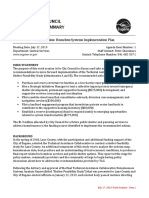 Homeless Systems Implementation Plan