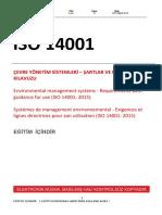 TS EN ISO 14001:2015 eğitim