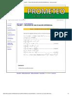Taller 1 - Solución de Una Ecuación Diferencial