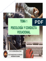 Psicología y conducta vocacional