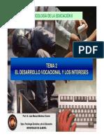 Tema 2 El Desarrollo Vocacional y Los Intereses