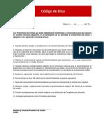 Codigo Etica Promotor de Ventas