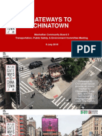 July 2019 Presentation On Gateways To Chinatown Project