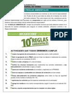 Charla Integral SSIMA 385 - 10 Reglas Ambientales