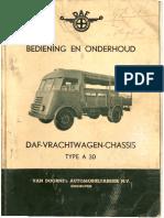 Instructieboekje Daf a 30