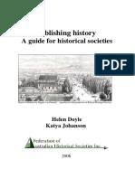 Guía para la escritura de la Historia