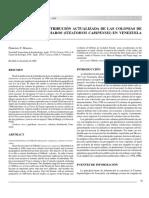 2003 Herrera Ff Distribución Actualizada de Las Colonias de Guácharos en Venezuela