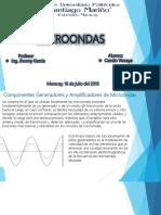 Componentes generadores y amplificadores de microondas clasicos y modernos. Bandas de radar